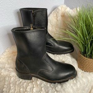 Iron Age Union made black work boots